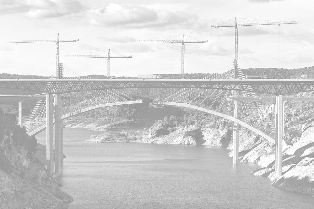 Construcción del viaducto de Contreras del AVE Madrid - Valencia