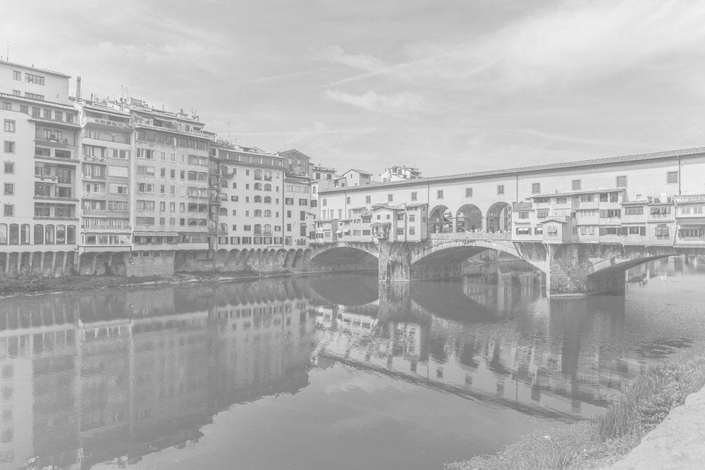 Panorámica del Ponte Vecchio en Florencia